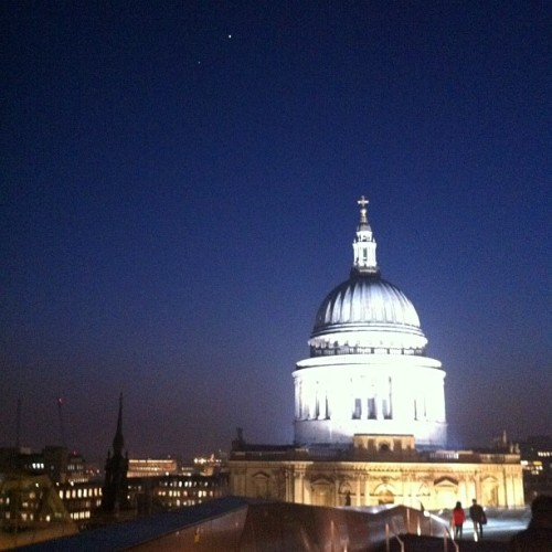 Jupiter and Venus above St Paul's  (Taken with instagram)