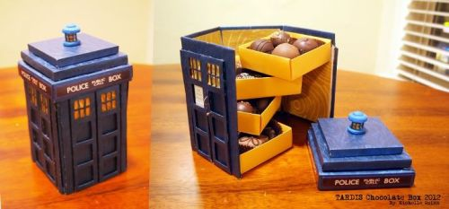 doctorwho:  TARDIS chocolate box. via