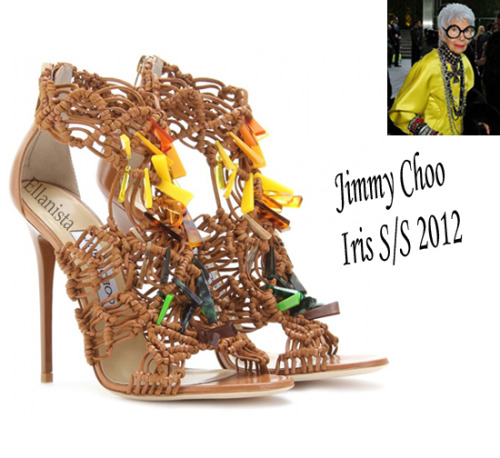 Shoe Talk Jimmy Choo tribute to fashion icon Iris Apfel.