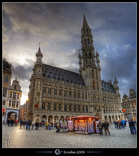 City hall, Grand place, Brussels, Belgium