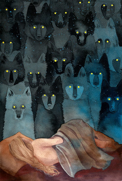 mydarkenedeyes:  In The Company of Wolves by Caitlin Clarkson