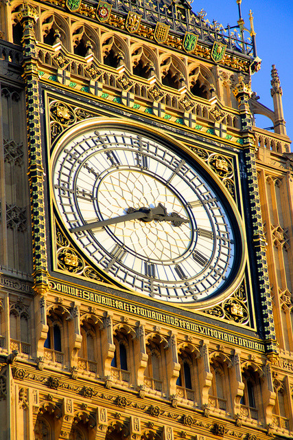 untitled by Kelly Bumford on Flickr.The four face liar.  Big Ben. Up close, you realize how much detail they put into that tower.