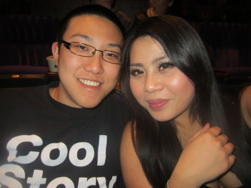 My boyfriend and me enjoying the jo koy stand up show!