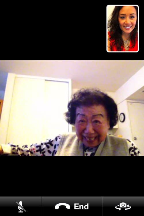 my 89-year-old grandma just facetimed me from her ipad. she's clearly a badass.