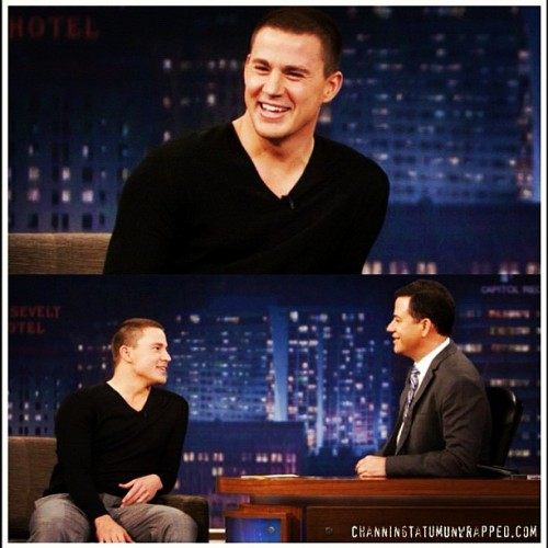 Channing Tatum is headed to Jay Leno tonight and Jimmy Kimmel tomorrow! Get details and watch all of his 2012 interviews, from Kimmel to 106 & Park, on CTU's talk show recap: http://bit.ly/ArcqtD  #21jumpstreet (Taken with instagram)