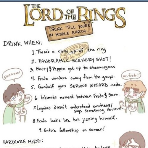 Doing this tomorrow !! #lotr #lordoftherings #springbreak #2012 #drunk #fun #lol #epic #thursday #thirsty #nofilter #instagram #geek  (Taken with instagram)