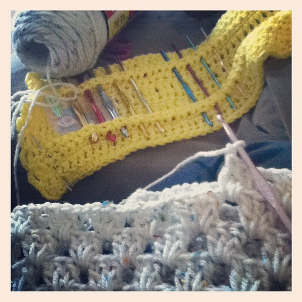 This is all I ever do. #crochet #personal #yarn #hooks #granny #square #purse  (Taken with instagram)