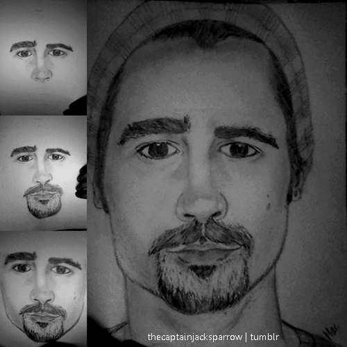 Last night I did … supposedly he is Colin Farrell. Hahah :P ♥