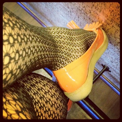 Tiffa just got her orange loafers from ASOS! tiffaro:  Pretty obsessed. (Taken with instagram)
