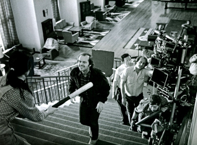 Jack Nicholson on the set of The Shining