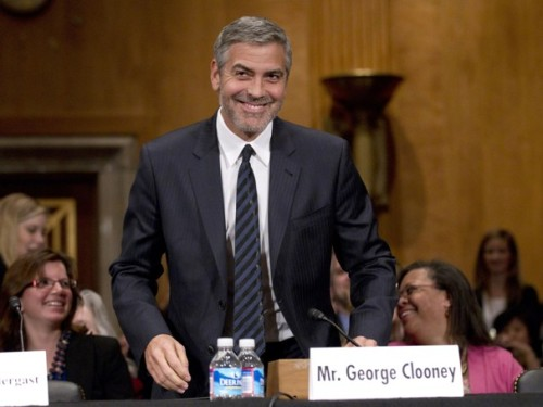 washingtonpoststyle:  You know what never gets old? George Clooney visiting Capitol Hill. Photo by Manuel Balce Ceneta (AP)  Sigh. Our report!