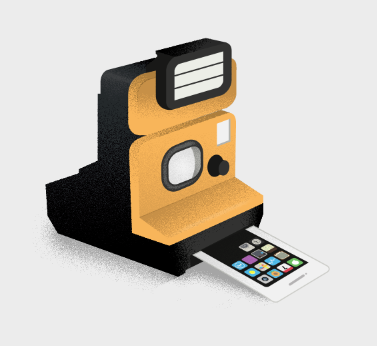 dp-illustrations:  Camera Phone Illustration by Dev Gupta. posted by dp{i}etsy//facebook//twitter//google+