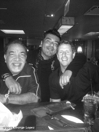At DOS Caminos in the city @superboycomedy @HoneybearRJ I went black and white in honor of the Latinos working here !View more George Lopez on WhoSay