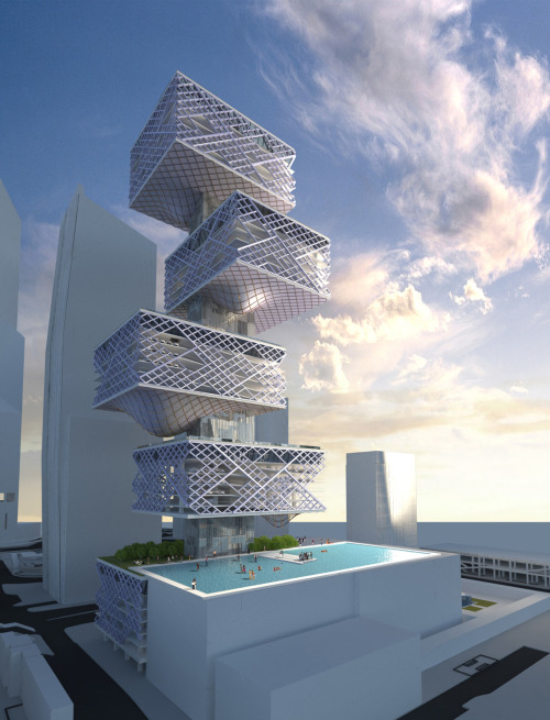 unknownskywalker:  Hong Kong Alternative Car Park Tower by Chris Y. H. Chan + Stephanie M. L. Tan
