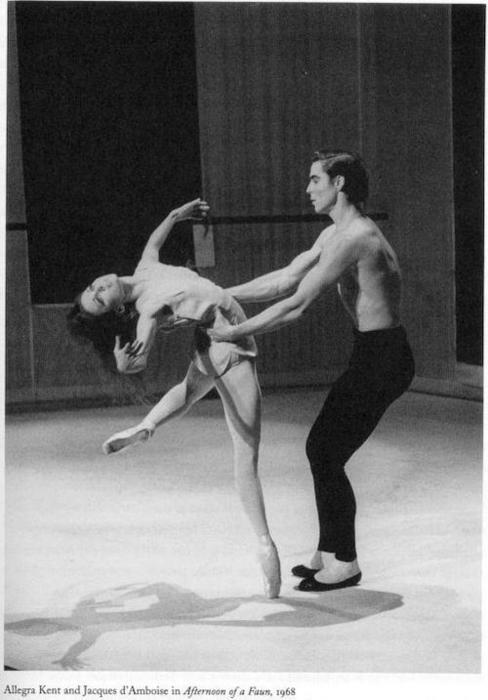 "Allegra Kent and Jaques d'Amboise in Jerome Robbins' ""Afternoon of a Faun"" - New York City Ballet - 1960's"