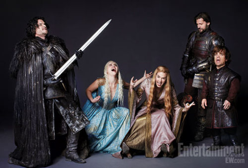 Game of Thrones! entertainmentweekly:  During the photo session … this happened.