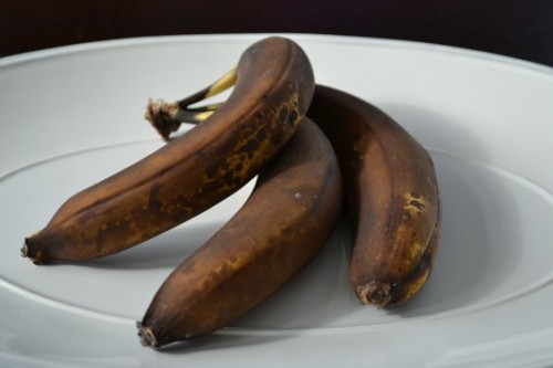 These appetizing bananas are brown.