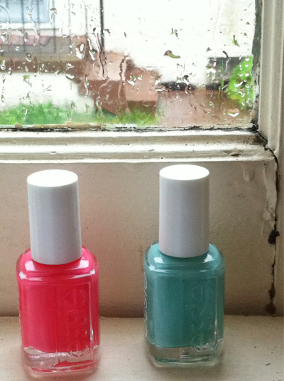 My slowly growing Essie collection!  Just got Cute As A Button!