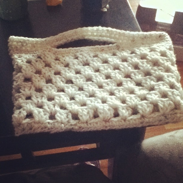 Look what I made (: #personal #granny #square #yarn #bag #purse  (Taken with instagram)