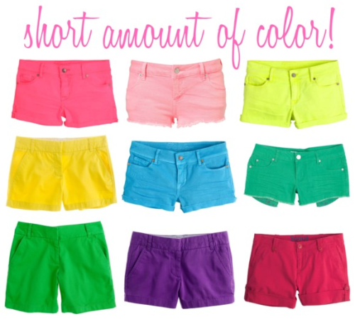 We heart affordable colored shorts for Spring!