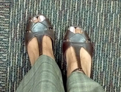 Day 74 of 366 my first day wearing open toe shoes in 2012