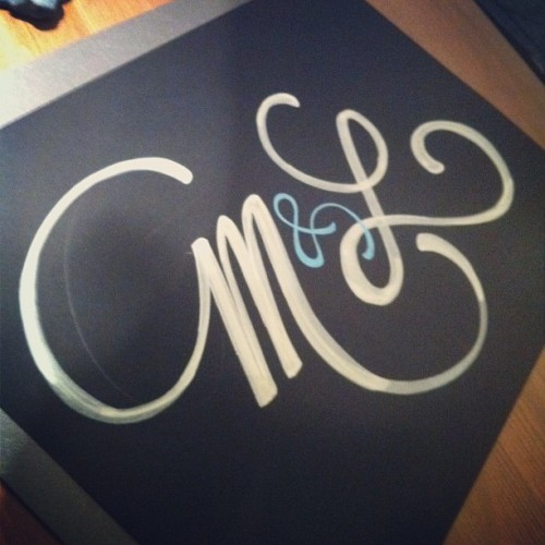 M&L [Marina & Luis] #lettering  (Taken with instagram)