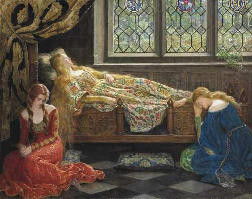 "fairytalemood:  ""The Sleeping Beauty"" by John Collier"