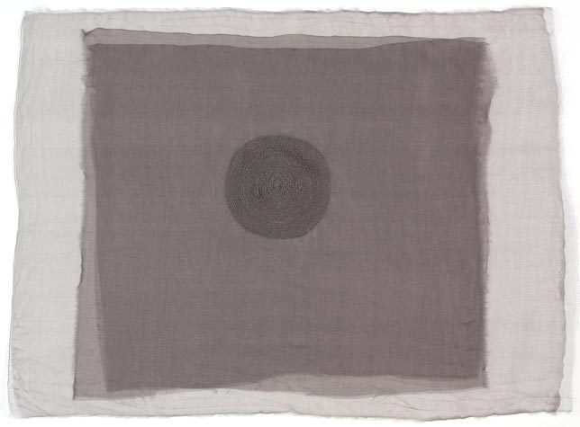 artspotting:  Trish Maharam. In Grey, 2010. Stitching on silk.