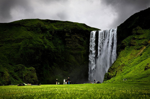 Skógafoss by KristjánFreyr on Flickr.