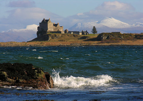 """Scotland : Duart Castle in Winter"" by Angie Latham 