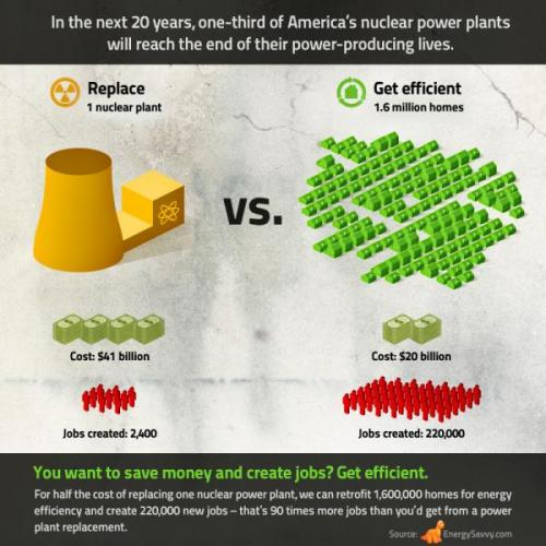 Nice infographic on investing in nuclear power vs. energy efficiency