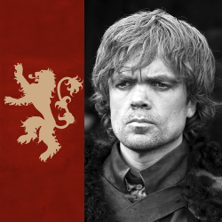 "afterthetrident:  Taken —> Tyrion Lannister For Tyrion, life is hard. The reduced status of House Lannister and the absence of his father means that there is no reputation to protect him from jibes and sneers and stares, and consequently he's spent most of his life hardening himself against anyone who isn't a Lannister. At the heart of Tyrion is a huge conflict, because while he resents the reduced status of his House, his common sense tells him to just accept it, and starting rebuilding the family's old glory. He still remembers, on the one day that Father was allowed to stop at the Rock on his way to the Wall, the words he spoke. They were said to Jaime, behind a closed door. ""You are my son. And you must make sure that our roar is heard again at every corner of Westeros."" Father didn't talk to Tyrion. But Tyrion understands things, far better than Jaime does. Because Tyrion knows that he is more Tywin's son than Jaime, and he knows that what is more important than mere power, infinitely more important, is control. Influence is what they need, and so Tyrion waits, and bides his time. The journey he took to the Free Cities when he was sixteen has given him a different perspective on life than most in Westeros. And so he makes his plans."