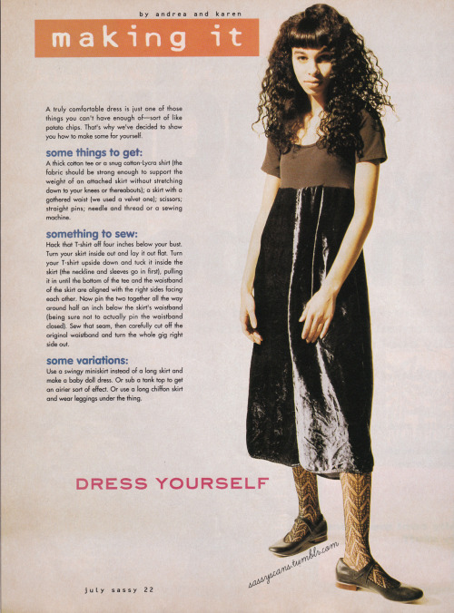 sassyscans:  From the Sassy Magazine July 1991 issue. Cute then, cute now, huh?