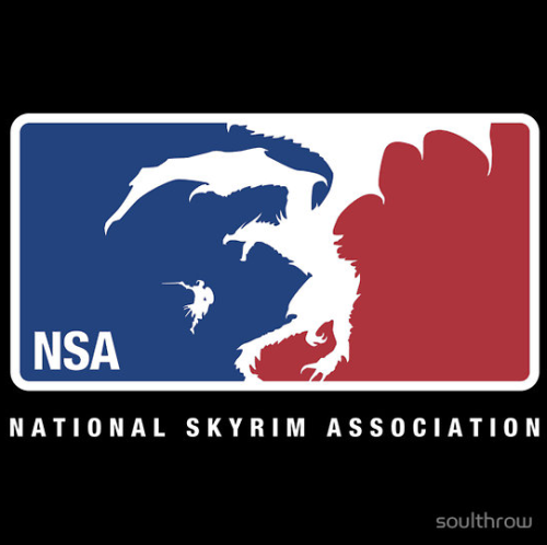 geekpride:  National Skyrim Association by Soulthrow Available on Redbubble
