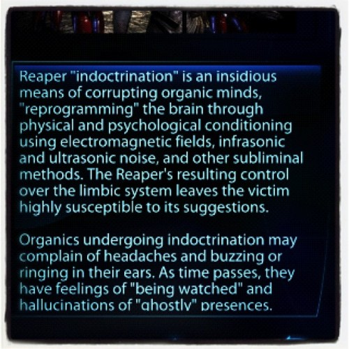 #masseffect3 indoctrination theory. Read this. Redo the ending.  (Taken with instagram)