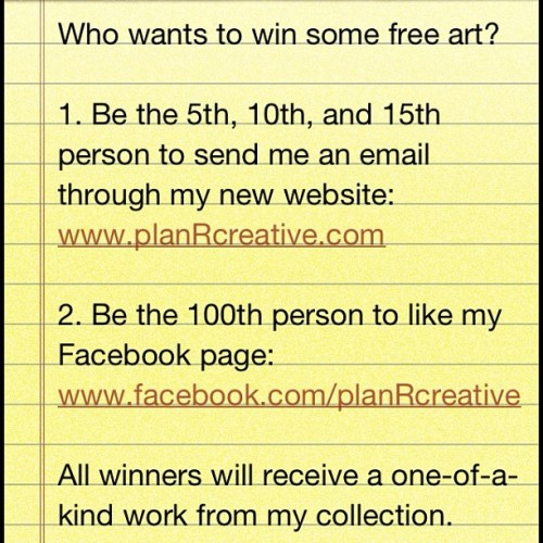 #free #art #giveaway #contest (Taken with instagram)