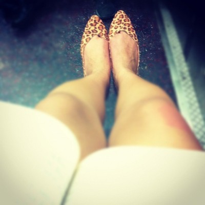 "My ""new"" #thrifted $10 #chineselaundry #leopard #flats :D (Taken with instagram)"