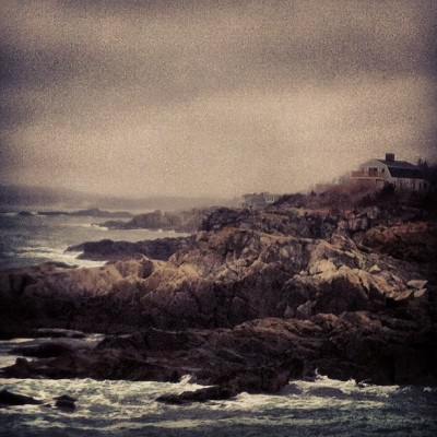 #house #rocks #maine #ocean  (Taken with Instagram at Portland Head Light)