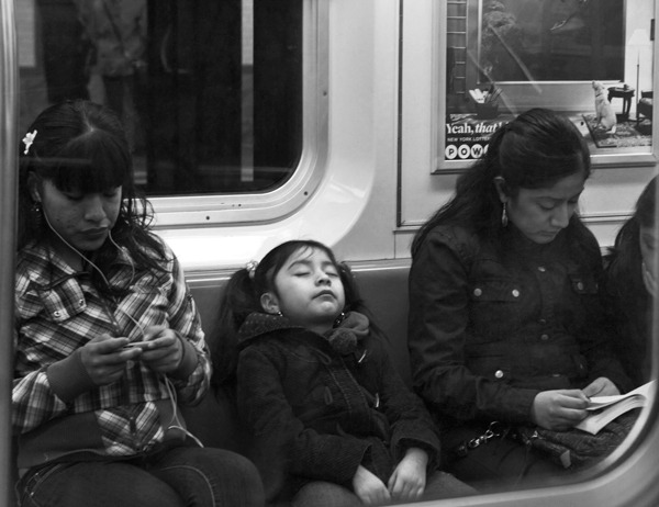 Subway Riders  Manhattan 2012