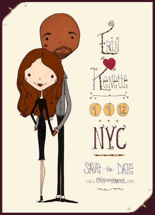 just finished a custom Save the Date for a super sweet couple! :)