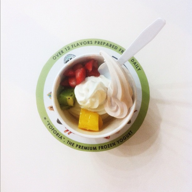 074 - froyo #fruit #cold #desert #frozenyogurt #delish #photoaday (Taken with instagram)