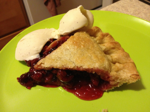 Liz made cherry pie for Pi Day dessert!  (let's hope she doesn't have anything planned for the Ides of March!)
