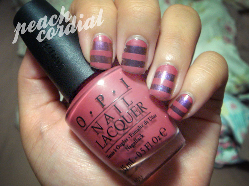 Pink and purple stripes.  full post here.
