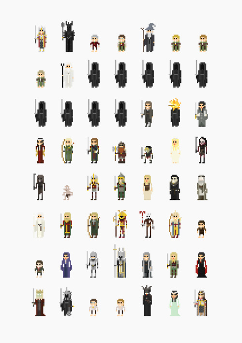 koldunkisloty:  8-Bit The Lord of the Rings Created by Fitz Fitzpatrick Prints available for $18 USD at society6. Website || Blog || Shop (via: it8bit, pacalin)