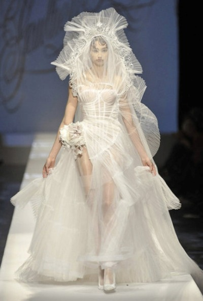 How I imagine the Capitol wedding dresses Katniss has to try on.