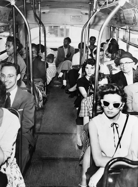 politics-war:  Segregated Bus in Texas
