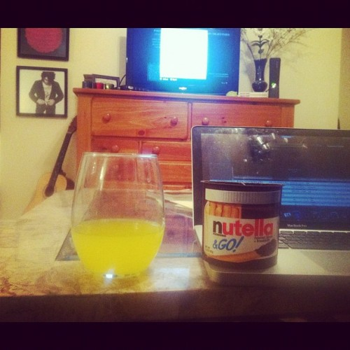 Call of Duty, Nos, and Nutella. #weirdwednesday (Taken with instagram)