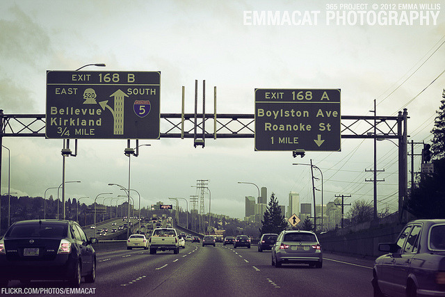 emmacatphotography:  168 Exits on I-5 - 71/365 on Flickr. Via Flickr: Sorry I'm posting these a few days late!