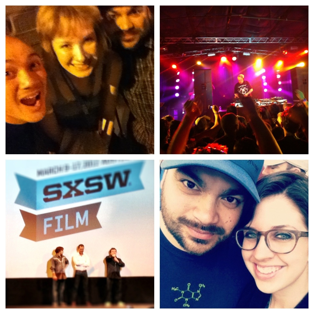 SXSW has been absolutely wonderful. It's also been completely exhausting which should be evident by my forgetting to post.  These are four of my favorite images from this week. It was awesome to share this experience with Lan, Vu, and Hope. Last night Lan and I went over to a party hosted by Warner Studios and Nikon. I was super happy with this shot even though the party was a hipster fest.   Tonight Vu and I went to see the premiere of a movie called Bernie starring Jack Black and Matthew McConaughey. The movie was great and both Jack and Matthew were there. We were in the back so it's a tiny picture, but they are there!  It was inspiring to be in a place with many different creative people. I'd like to start writing and directing short videos. Most likely about Minecraft. Because heaven knows my channel needs some love. I want to start putting my ideas out there by just doing them.  I'm also excited to implement things I learned and saw while I was here into Mojang.   Overall it was completely fabulous. Tomorrow I'm flying to LA to spend a few weeks there before PAX East. I have some really exciting ideas for things at PAX. I'll tell you more about them as soon as they are confirmed.   Now it is time to crash…. Zzzzzzz.