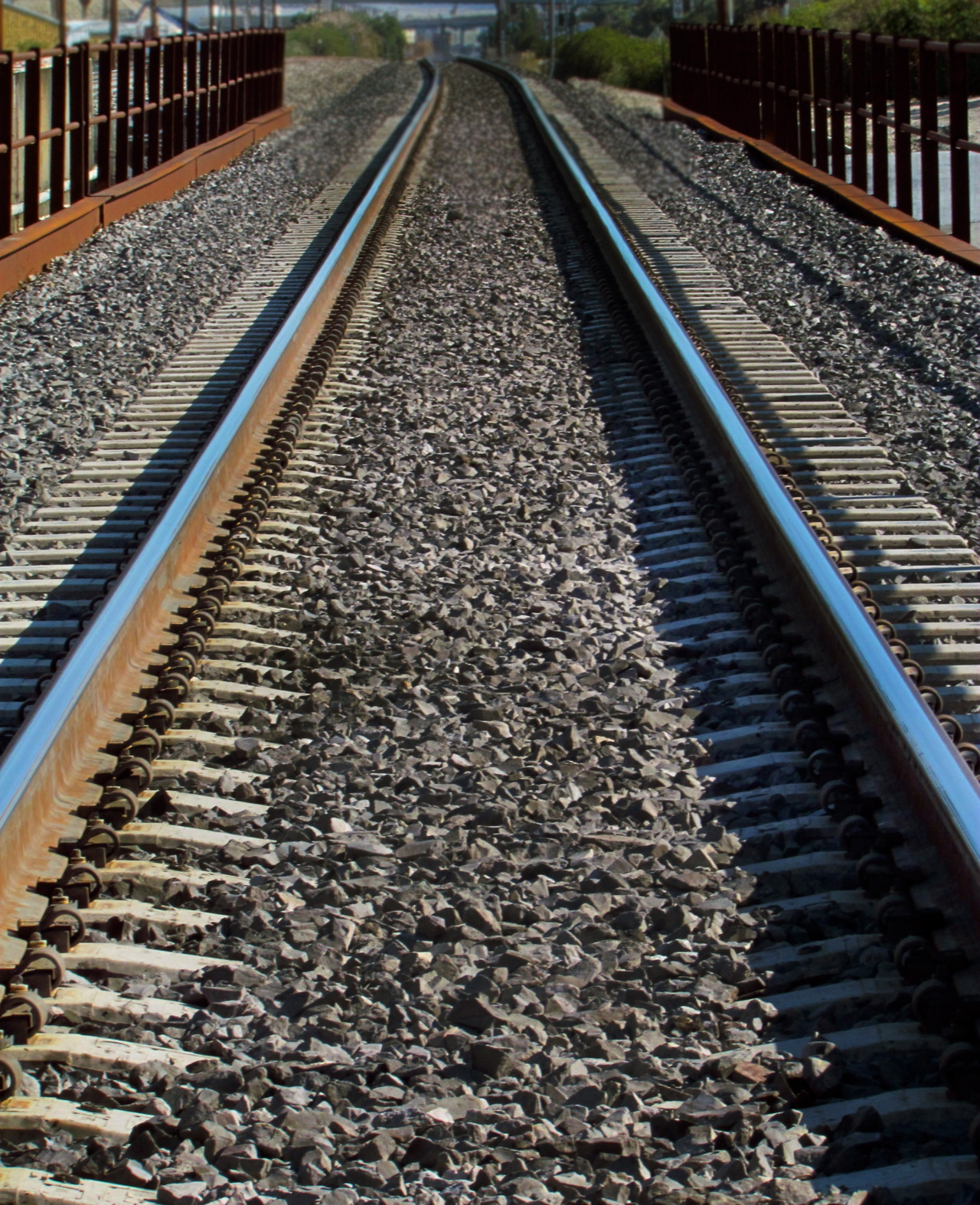 i love how this came out, i was walking on the train tracks.